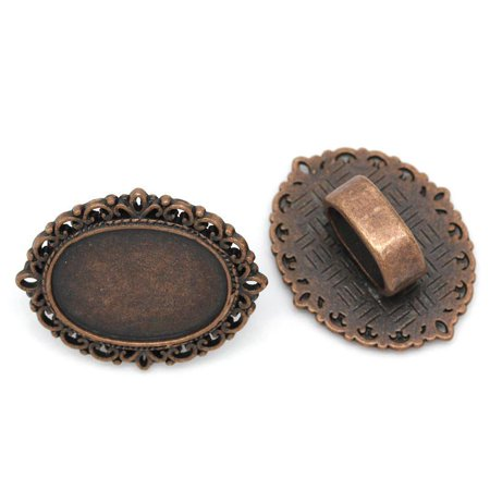 Sexy Sparkles 4 Pcs Cameo Oval Cabochon Setting Antique Copper Fit Watch Bands/wristbands 26mm