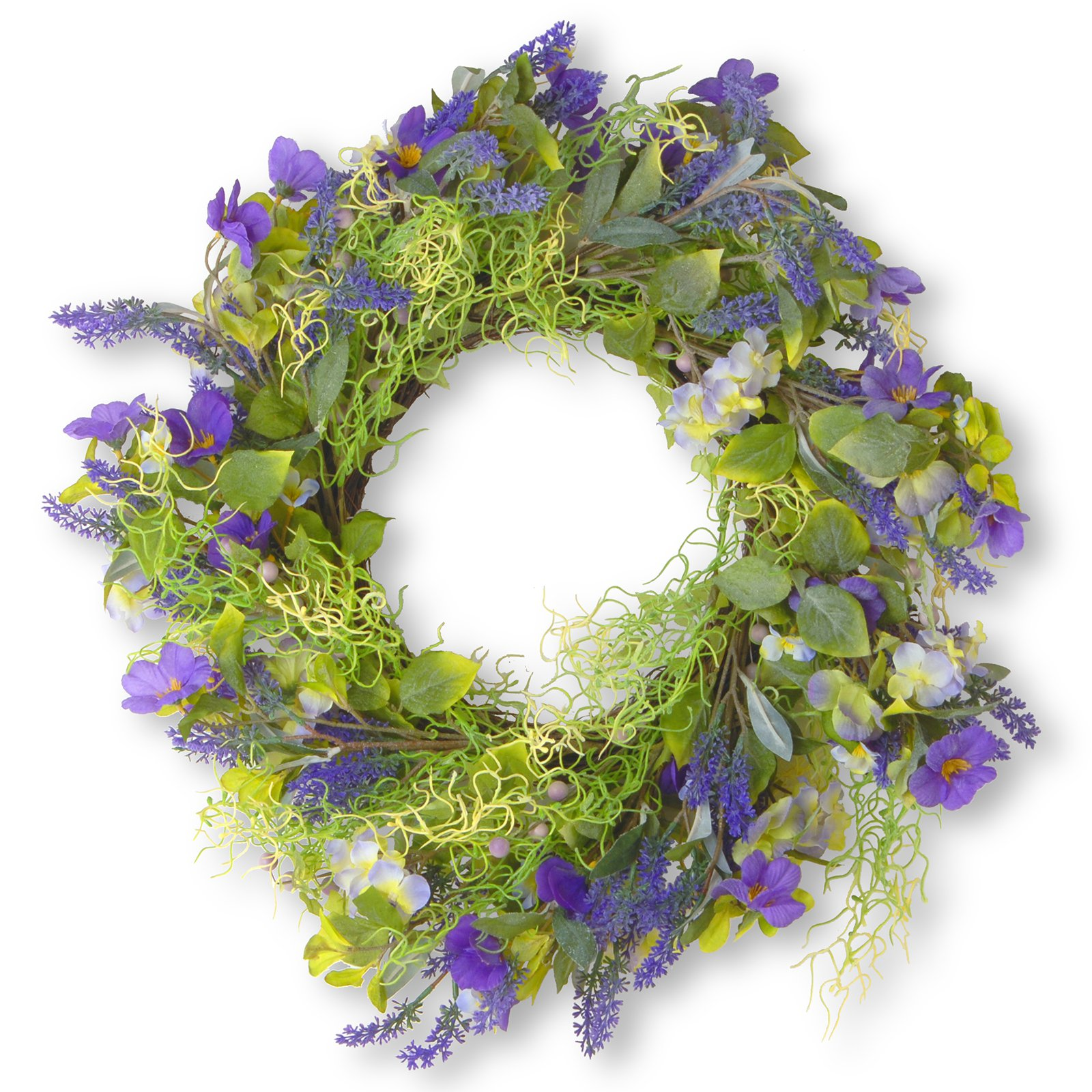 "24"" Purple Flower Wreath"