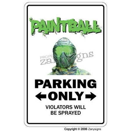 PAINTBALL Aluminum Sign paint ball player sport guns gear masks team paintballs ball   Indoor/Outdoor   18