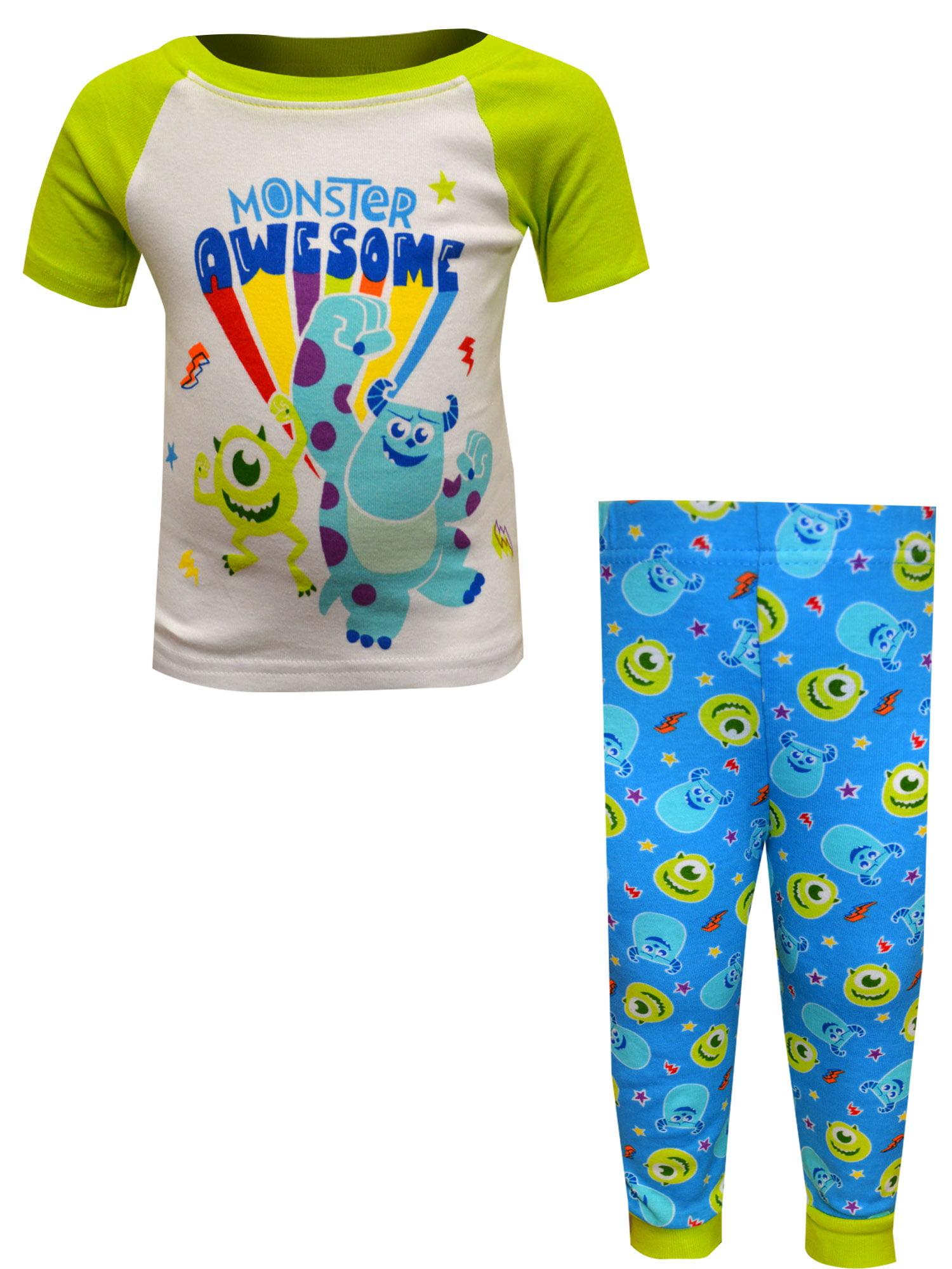 Ame Sleepwear Ame Sleepwear Boys Disney Baby Monsters University Cotton Infant Pajama 24 Mo Walmart Com Walmart Com
