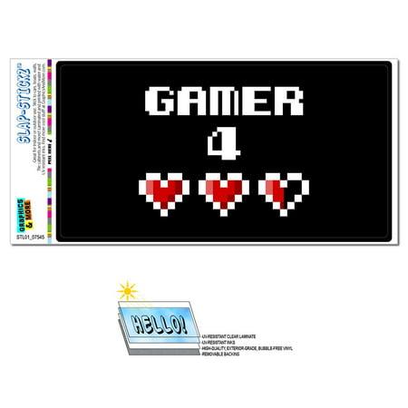 Gamer 4 For Life - Gaming Pixel Hearts SLAP-STICKZ(TM) Premium Sticker