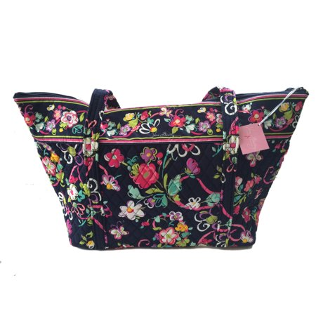 Vera Bradley Miller Bag In Ribbons With Pink Interior