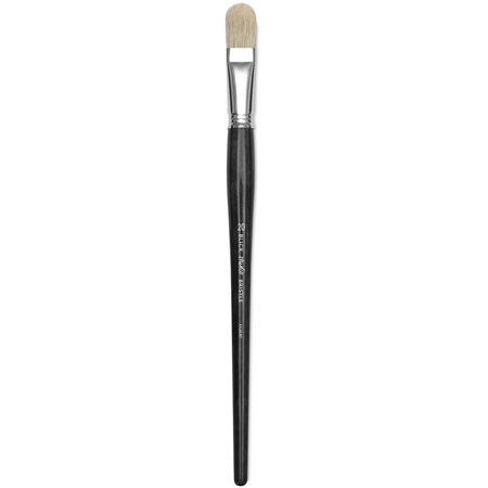 Long Filbert - Blick Studio Bristle Brush - Filbert, Long Handle, Size 20