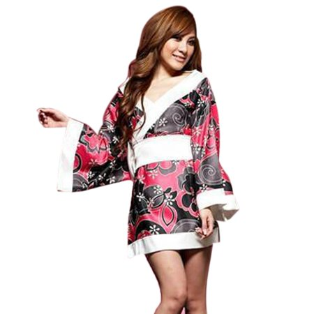 Women Long Sleeve Kimono Sleepwear Lingerie Robe Costume Nightgown Uniform for Women](Mascot Uniforms For Sale)