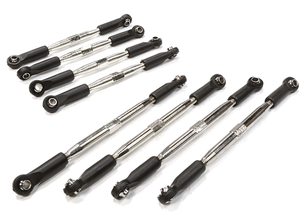 Integy RC Toy Model Hop-ups C26194 Billet Machined Turnbuckle & Pushrod Set (8) for... by Integy