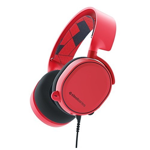 SteelSeries Arctis 3 All-Platform Gaming Headset, Solar Red