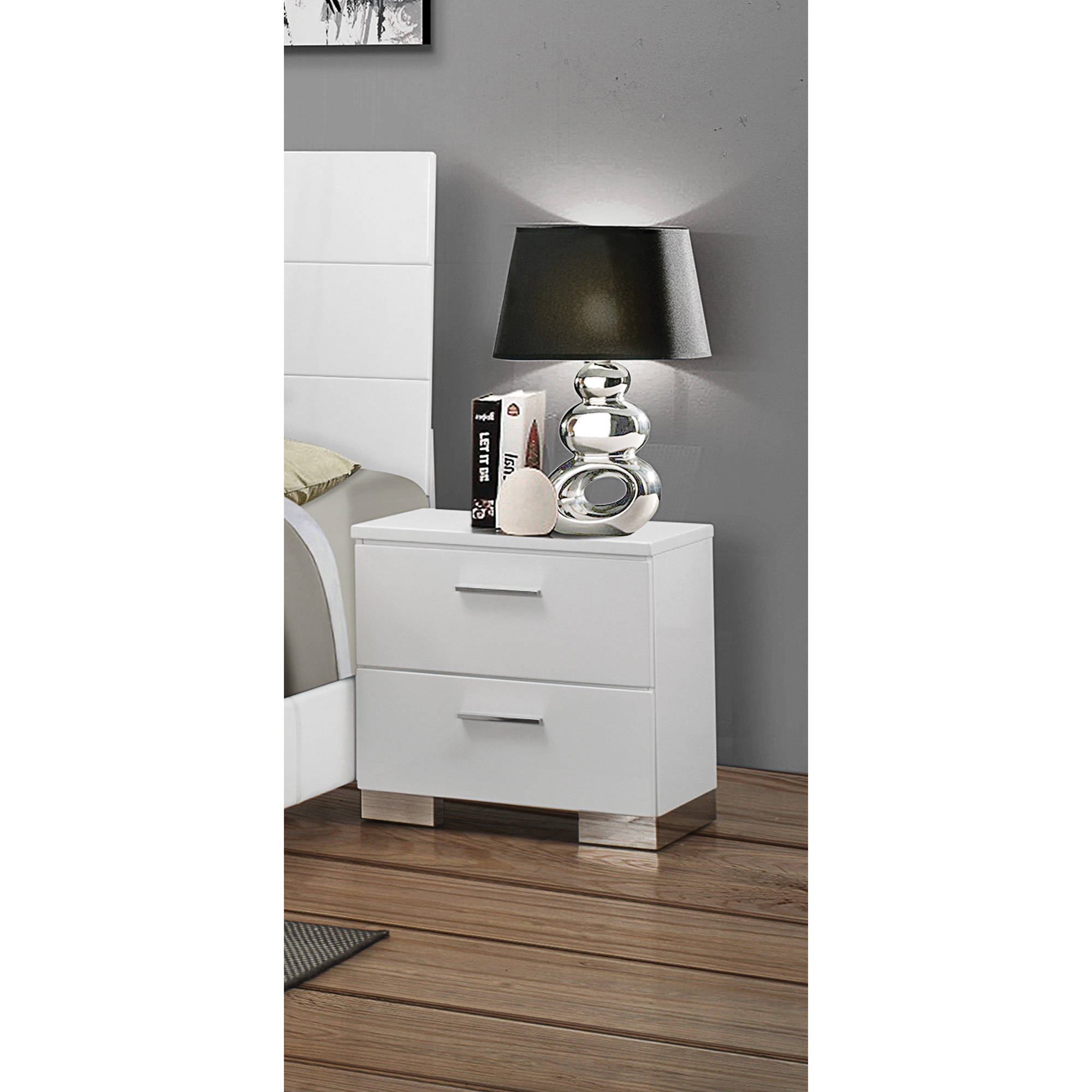 coaster company felicity collection nightstand white  walmartcom -