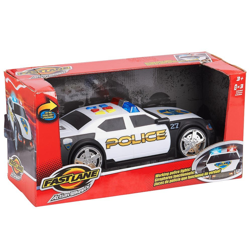 Fast Lane Police Car Action Wheels with Lights and Sound Motorized..., By Toys R Us Ship from US by