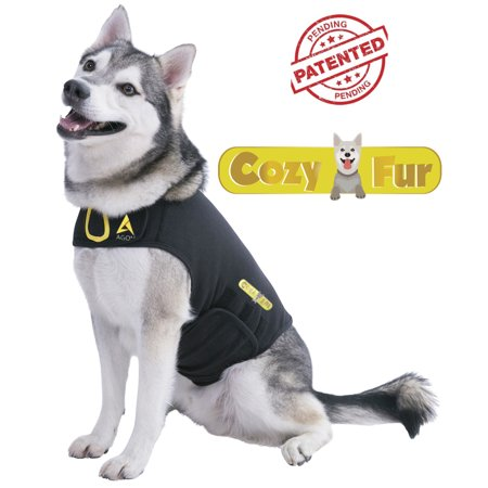 Agon® CozyFur Patent Pending - Canine Dog Cat Anti Anxiety Vest Coat With Calming Essential Oil Lavender Scent & Relaxing Music, Treat Dogs Stress Noises, Separation, Thunder, Shirt Jacket (Best Thunder Jacket For Dogs)