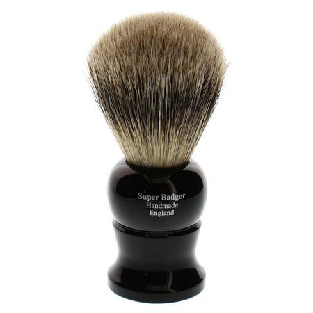 Edwin Jagger Super Badger Shaving Brush, Medium, Imitation Ebony