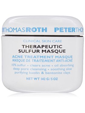 ($52 Value) Peter Thomas Roth Therapeutic Acne Treatment Sulfur Clay Face Mask, 5.0 Oz