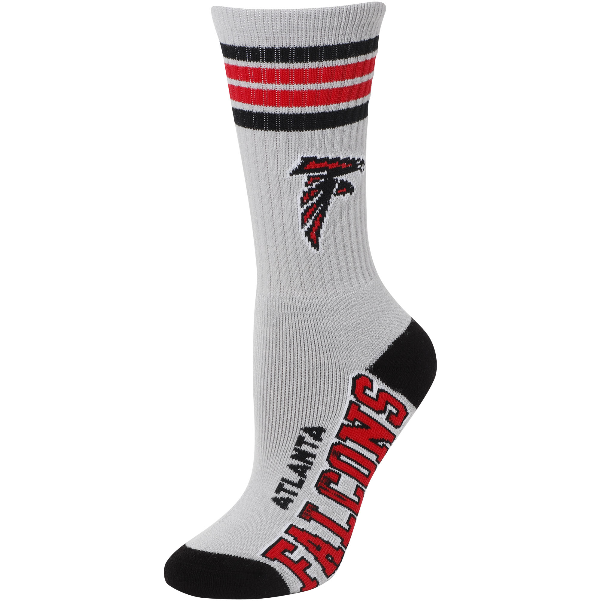 Atlanta Falcons For Bare Feet Women's Deuce Crew Socks - M