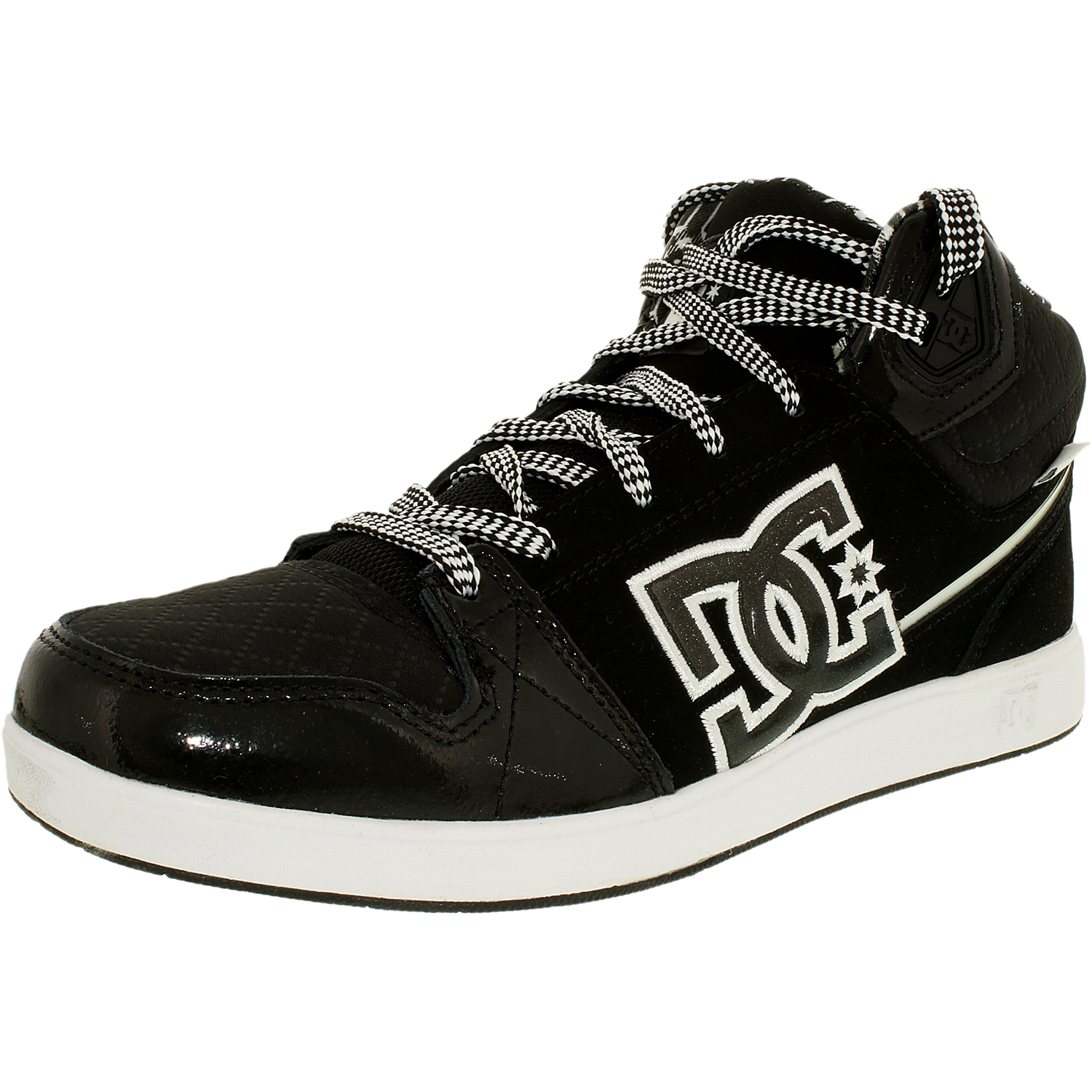 Dc Women's University Mid Black Ankle-High Suede Fashion Sneaker - 9M
