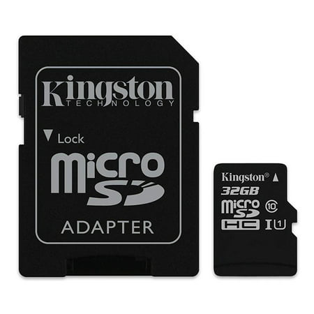 axGear Kingston 32GB Micro SD Memory Card 32G SDHC Class 10 UHS-I TF w/ SD Adapter 32 GB - image 1 of 2