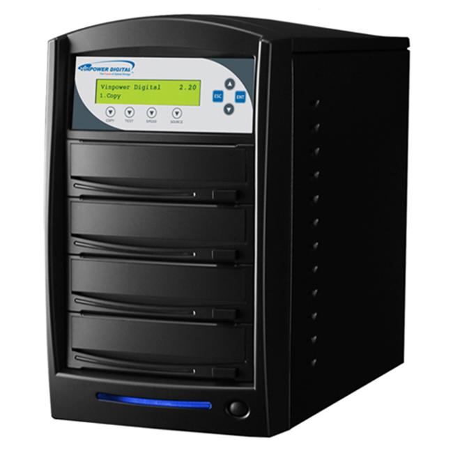 Vinpower Digital Karaoke-S3T-BK Karaoke Mix Pro 1 to 3 Target CD+G CD DVD Disc Duplicator Tower with 320GB Hard Drive