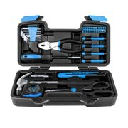 Home Repair Tool Kit, Portable 39 pcs Tool KitBlue