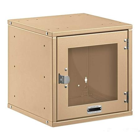 Modular Locker with Window Door in Tan