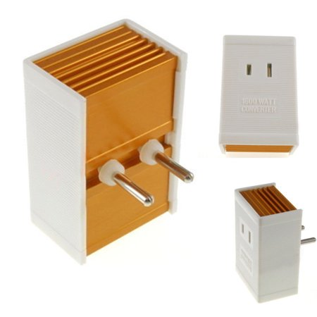 Foreign Travel Converter 1600 W Watt AV Voltage Step Down Power Adapater 220 - Foreign Voltage Converter