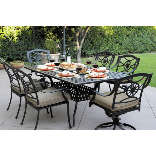 Alcott Hill Thompsontown 7 Piece Dining Set with Cushion