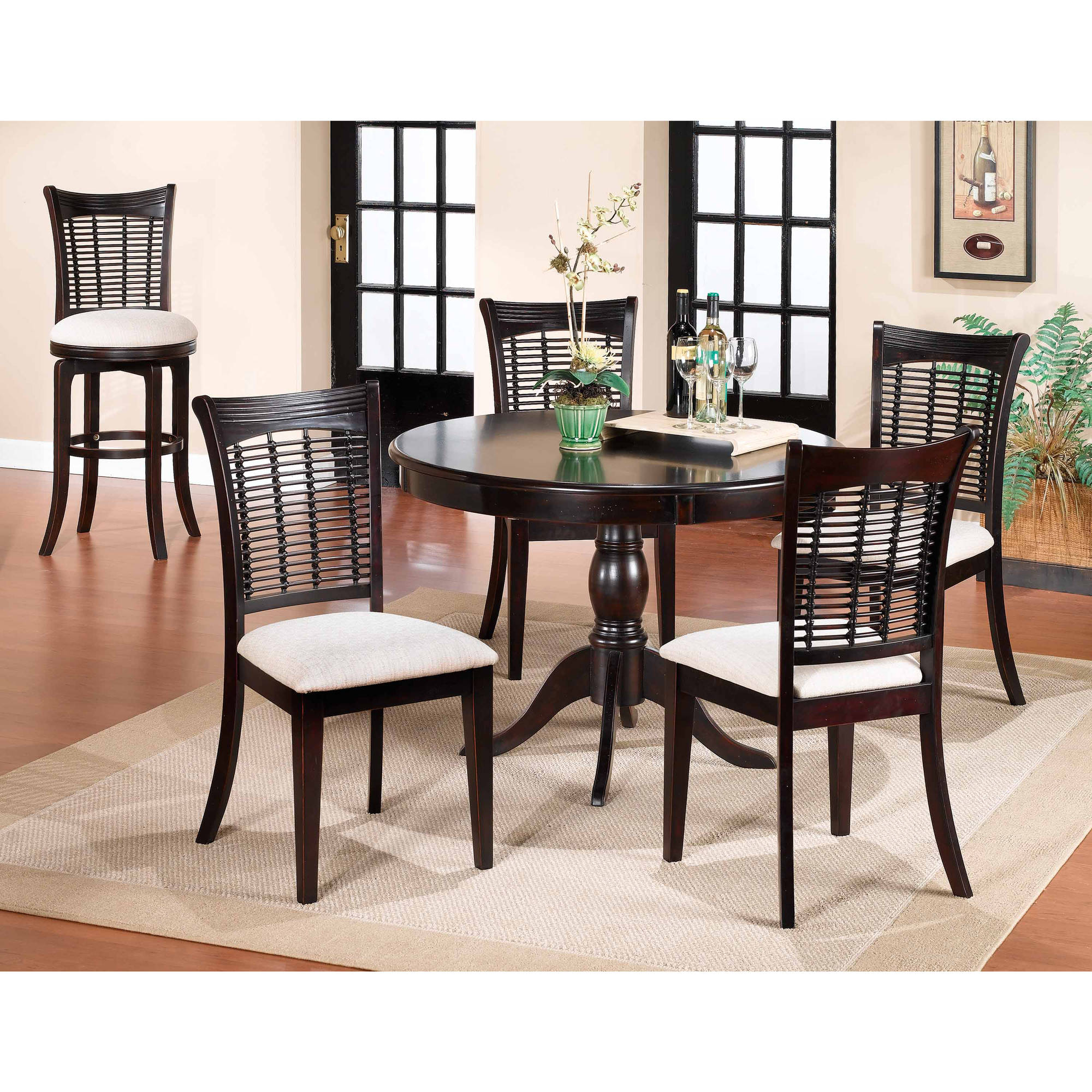 Hillsdale Furniture Bayberry 5-Piece Round Dining Room Set, Dark Cherry by Hillsdale