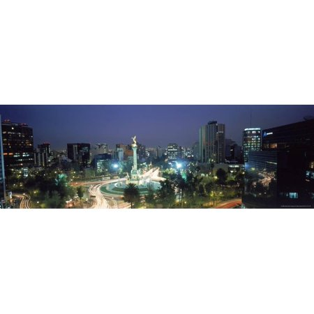 Adams Art Print - Night Skyline of Mexico City, Mexico Print Wall Art By Peter Adams
