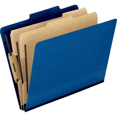 Pendaflex, PFX1257BL, Pressguard Classification Folders, 10 / Box, Dark Blue