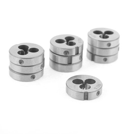10 Pcs M2 6 20mm OD Coarse Thread Hand Operated Tool Round Die Gray