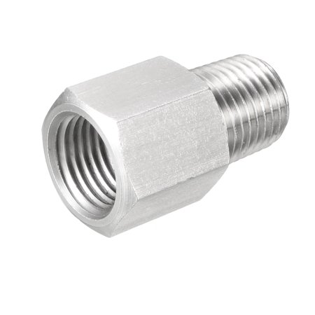 """Pipe to Fitting Adapter, Pressure Gauge Adapter 1/4"""" NPT Male Pipe x 1/4"""" NPT Female Pipe"""