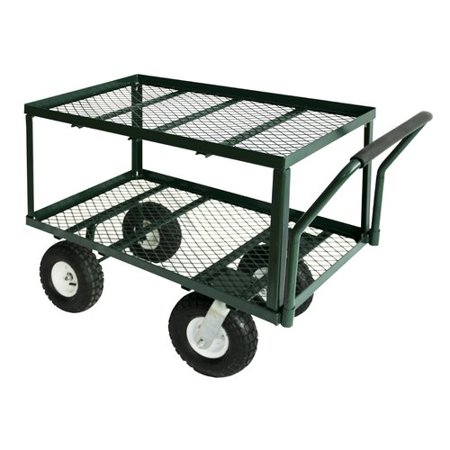 ZORO SELECT TW3820 Wagon Truck,38 in.L,20 in.W,550 - Steel Stake Wagon