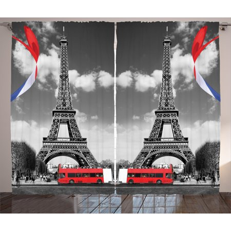 Eiffel Tower Paris City Decor Bedroom Living Room French Style Curtain 2 Panels - Paris Room Decor Ideas