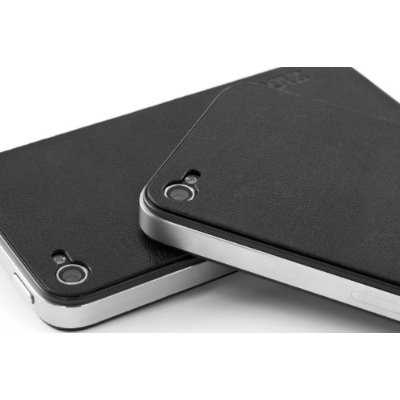 Zagg LEATHERskin Front & Sides Protective Film for Apple iPhone 4 - Black