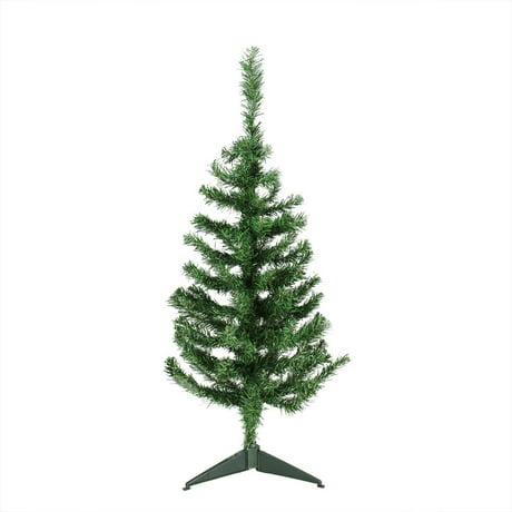 3 x 18 mixed green pine medium artificial christmas tree unlit - 3 Christmas Tree