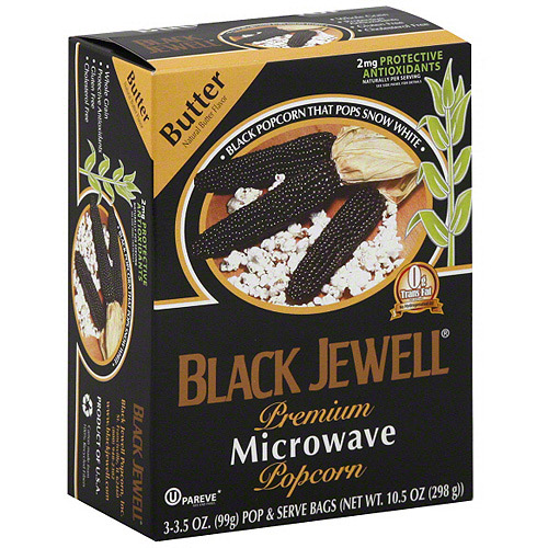 Black Jewell Black Buttered Popcorn, 10.5 oz (Pack of 6)