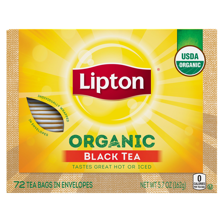 (3 Pack) Lipton Black Tea Bags Organic 72 ct