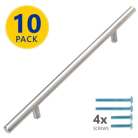 10 Pack 12 Stainless Steel T Bar Cabinet Pulls 7 9 16 Inch Hole Cente