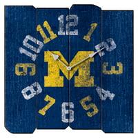University Michigan Vintage Square Clock