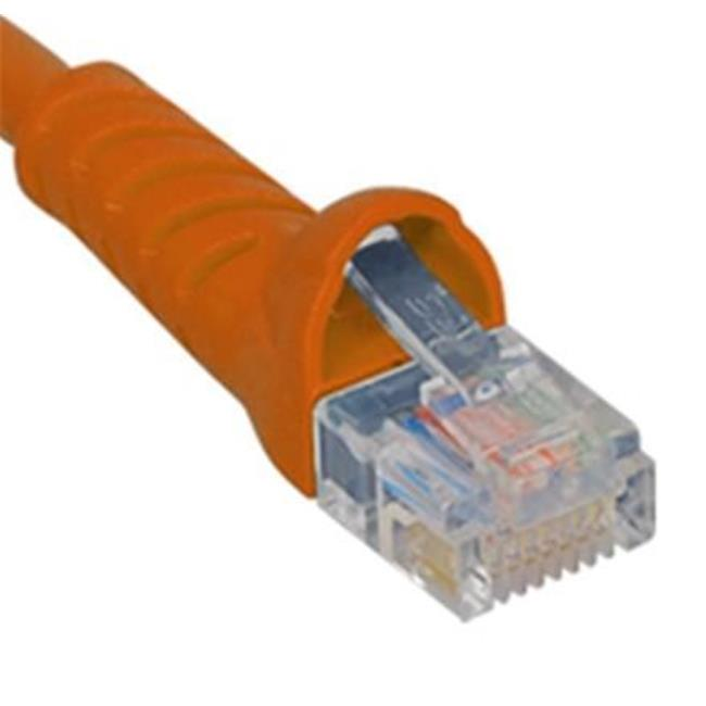 ICC ICPCSK05OR 5 ft. Ultra Slim Line Molded Boot Category 6 Patch Cord, Orange