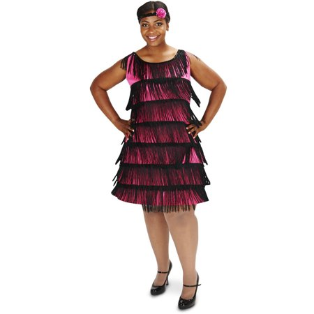 20's Bright Flapper Women's Plus Size Adult Halloween Costume
