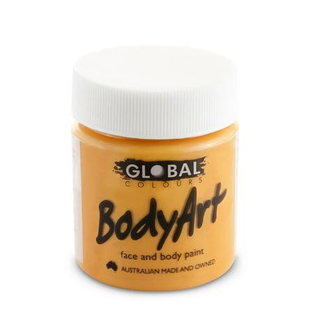 Global Body Art Face Paint - Liquid Orange (45 ml/1.5 oz)