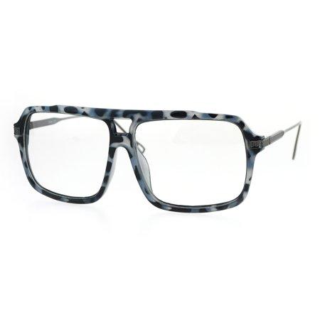3ccc618ff1cc Retro Vintage Hip Hop Rapper Oversized Mob Aviator Racer Eye Glasses Grey  Tortoise Gunmetal - Walmart.com