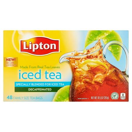 Lipton Iced Tea Bags Family Size  10 5 Oz  48 Pack