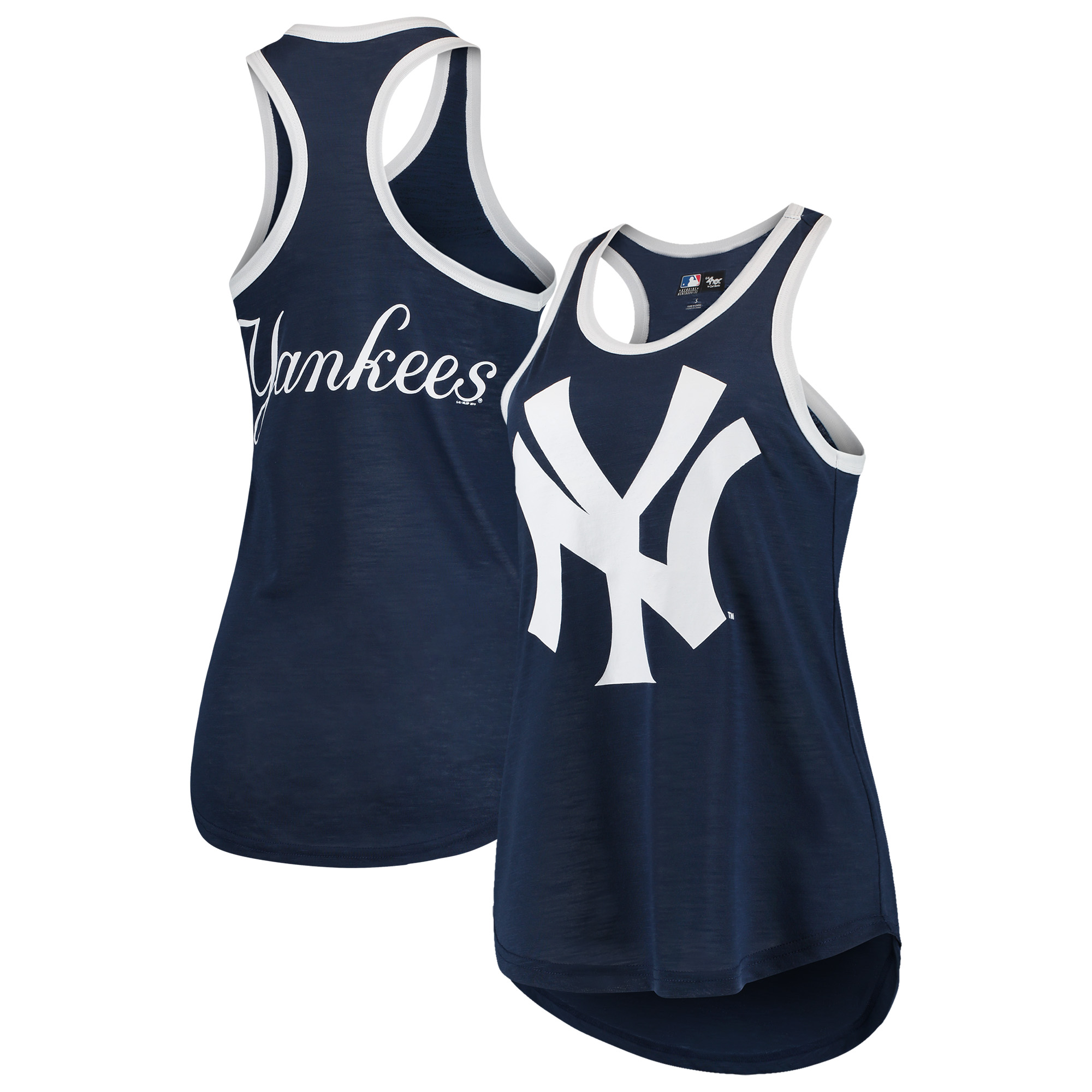 New York Yankees G-III 4Her by Carl Banks Women's Team Logo Tater Racerback Tank Top - Navy