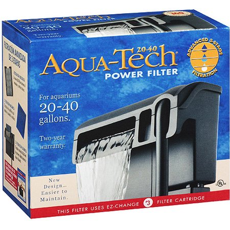Aquatech filter 20 40 for Fish tank filter pump walmart