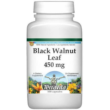 Black Walnut Leaf - 450 mg (100 capsules, ZIN: 511427)