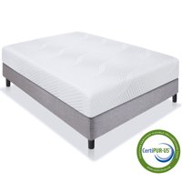 "Best Choice Products 10"" Dual Layered Medium-Firm Memory Foam Mattress w/ Open-Cell Cooling, CertiPUR-US Certified Foam, Removable Cover"