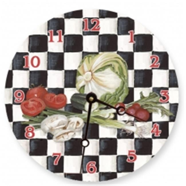 Lexington Studios 23105R Veggies Checker Round Clock by Lexington Studios
