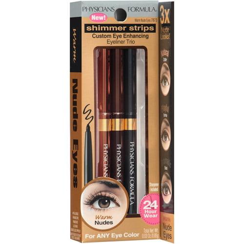 Physicians Formula Shimmer Strips Custom Eye-Enhancing Eyeliner Trio, 7873 Warm Nude Eyes, 0.03 oz