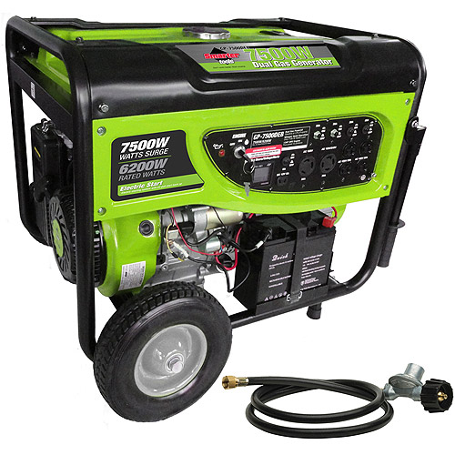 Smarter Tools 7500W Propane (LPG) and Gasoline Generator with Electric Start and Battery
