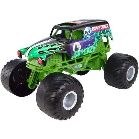 (Hot Wheels Monster Jam Giant Grave Digger Vehicle)