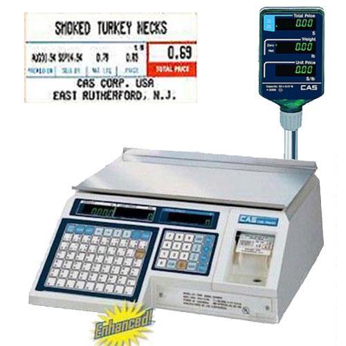 CAS LP-1000NP Pole Scale NTEP  30 x 0 01 lb w 1 case LST-8000 Labels  58 x 30 mm